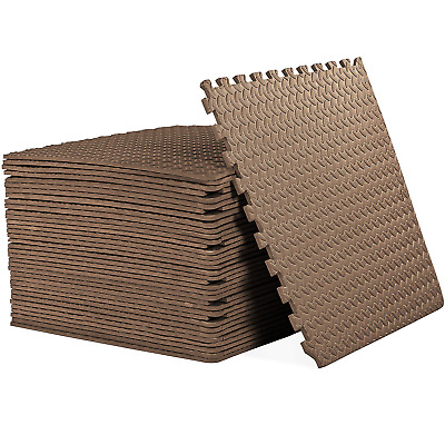 Interlocking BROWN Heavy Duty EVA Foam Gym Flooring Floor Mat Mat Tiles 60X60X1