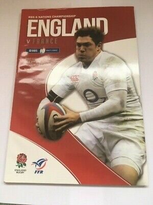 England V France 6 Nations Rugby Union Programme 2013