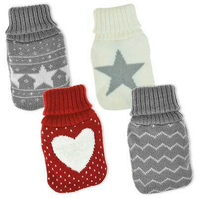 Reusable Hand Warmers Knitted Cover Instant Heat Hot Water Bottle Pocket Gel Pad