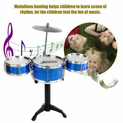 3-Piece Kids Drum Set Children Junior Drums Kit Percussion Musical Instrument GN