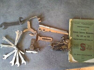 Singer sewing machine 127 1910/20's Manual & Assessories from machine F7180520