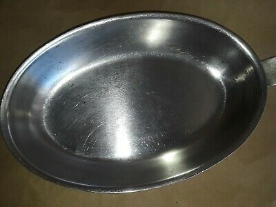"Legion Utensils Saute Pan Oval Fry Stainless Steel Skillet 8"" x 6"""