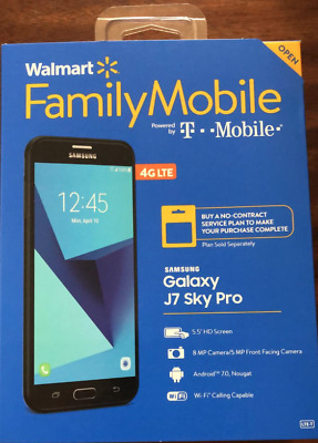 *NEW UNLOCKED* Walmart Family Mobile Samsung Galaxy J7 Sky Pro BLACK 16GB 4G LTE
