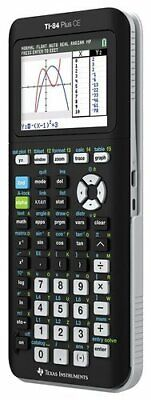 NEW Texas Instruments TI-84 Plus CE Rechargeable Graphing Calculator - Black
