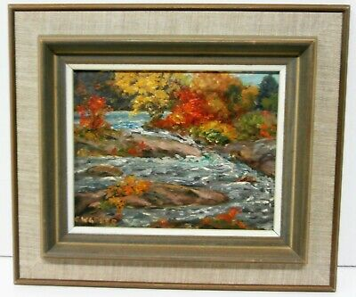 Clifton Wellington GREER(1904-1982)-RAINBOW RAPIDS-ACTINOLITE-ONTARIO