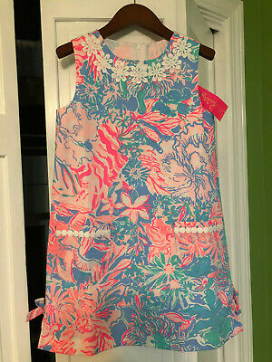 Lilly Pulitzer NWT Little Lilly Classic Shift Blue Peri Viva La Lilly $58