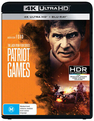 Patriot Games (4K Uhd/Blu-Ray) (1992) [New Bluray]