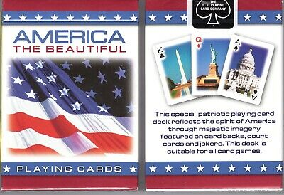 America The Beautiful Patriotic Playing Card Deck 7 99