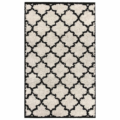 "Minaan Trellis Lace Design Navy Blue Skid Resistant Soft Runner Rugs 26/""x59/"""