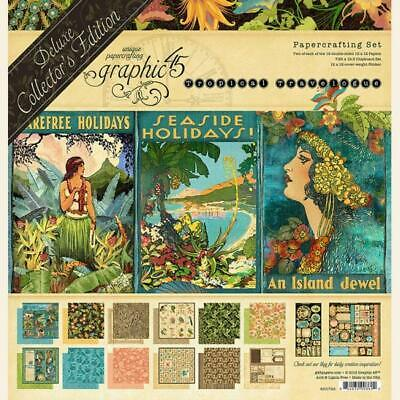"""Graphic 45 Tropical Travelogue Deluxe Collector's Edition Pack  12""""x12"""""""