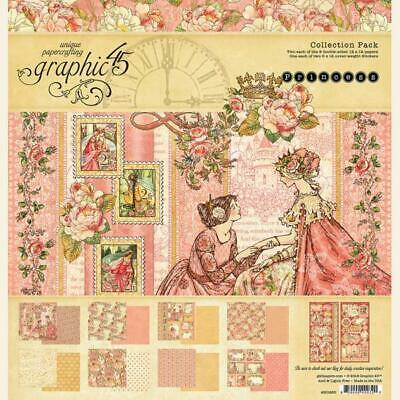 "Graphic 45 Princess 12"" Collection Pack  17pc Pack"