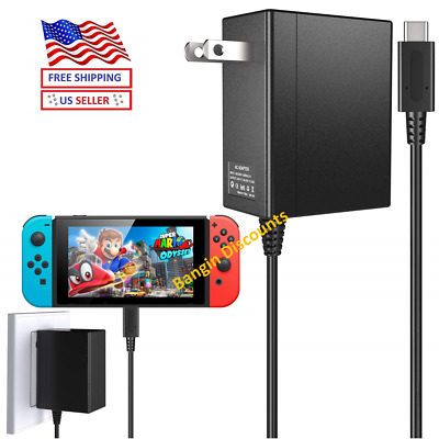 For Nintendo Switch AC Power Supply Adapter Home Wall Travel Charger Cable New
