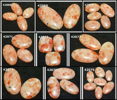 Natural Sunstone Cabochon Fancy Shape Loose Gemstone Wholesale Lot 42068