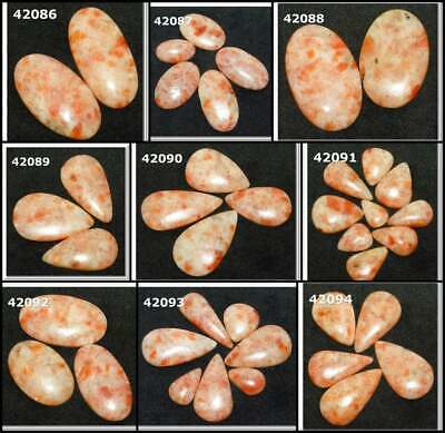 Natural Sunstone Cabochon Fancy Shape Loose Gemstone Wholesale Lot 42086