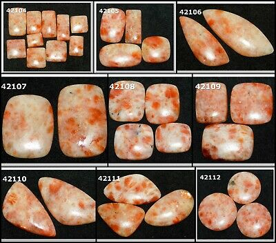Natural Sunstone Cabochon Fancy Shape Loose Gemstone Wholesale Lot 42104