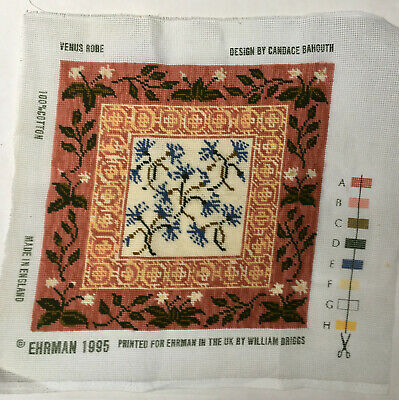 Ehrman Candace Bahouth Venus Robe Completed Cushion Needlepoint Tapestry Floral