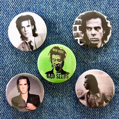 5 x Nick Cave BUTTON BADGES 25mm Pin Back Music Bad Seeds Birthday Party