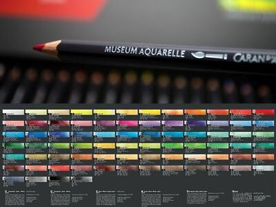 Caran d'Ache Museum Aquarelle Artists Quality Water Colour Pencil Full Range