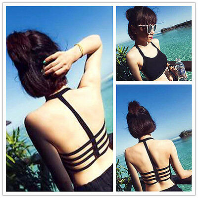 Women Beach Tank Tops Bustier Bra Vest Crop Bralette Blouse Girls Sexy Underwear