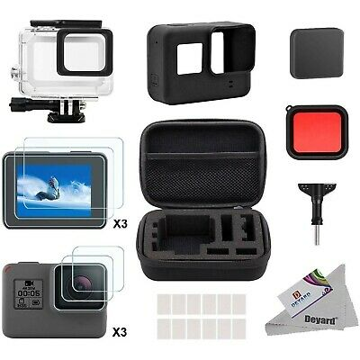 GoPro Hero 7 Black Accessories Kit (Case, Waterproof Case, Screen Protector) NEW