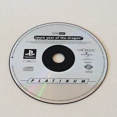 PS1 Spyro Year Of The Dragon DISC ONLY Platinum PlayStation 1 Tested & Working