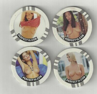4 Naked Sexy Busty Lady Woman Poker Chips Coins Tokens Perfect 10 Magazine Xxx