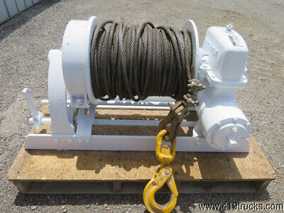 TULSA RUFFNEK Winch Cable Heavy Duty Towing Worm Gear 20,000 lbs Pull RN20WH