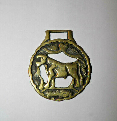 "Horse Harness Brass Bull Cow Medallion Saddle Bridle Ornament 3.25"" x 2.75"""