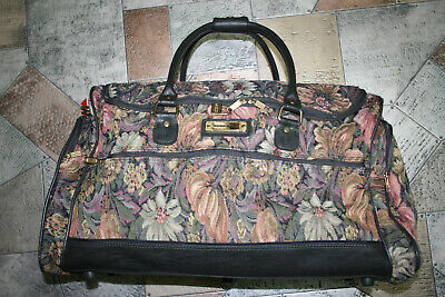 American Tourister Luggage Overnight Case Floral Tapestry Duffel Bag Carry On