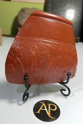 Very Rare Roman [Romano-British] Decorated Samian Pottery Sherd – Form 29 Bowl
