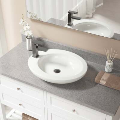 V3202 Bisque Porcelain Sink with Antique Bronze Faucet and