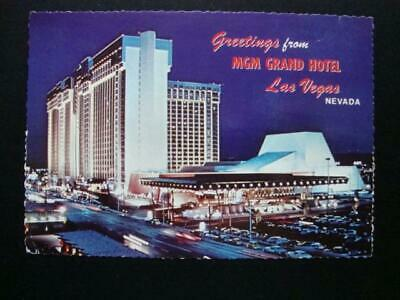 693) Las Vegas Nevada ~ Greetings From The 120 Million Dollar Mgm Grand Hotel
