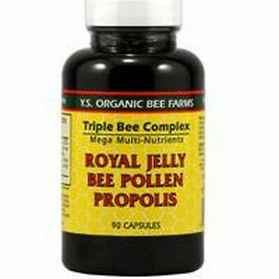 Y.S. Organic Bee Farms Triple Bee Complex Royal Jelly Bee Pollen Propolis 90 cap