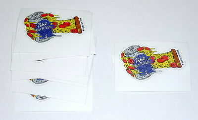LOT OF 10 Pabst Blue Ribbon Beer PBR ART Limited Edition Pizza Oven Mitt Sticker