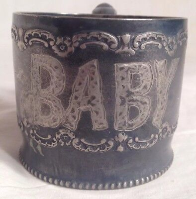 Antique Pairpoint Quadruple Silver Plate Baby Cup New Bedford Mass Victorian 467
