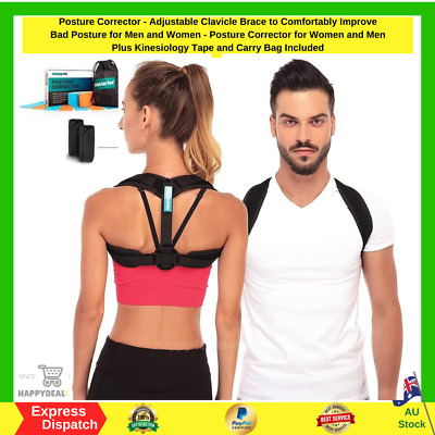 Posture Corrector Adjustable Clavicle Brace Improve Bad Posture Men And Women AU