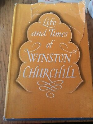 Life and times of Winston Churchill 160 photographs 320 pages HISTORY HB book