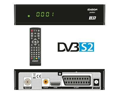 Edision Proton LED DVB-S2 Ricevitore Satellitare HD con Display (HDMI, USB, HD)