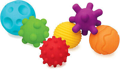 6 Textured Multi Ball Set sensory stimulating textures for little hands