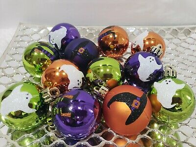 """(12) Halloween Witch Legs Hats Ghost Ornaments Decor Tree Decorations 2"""""""