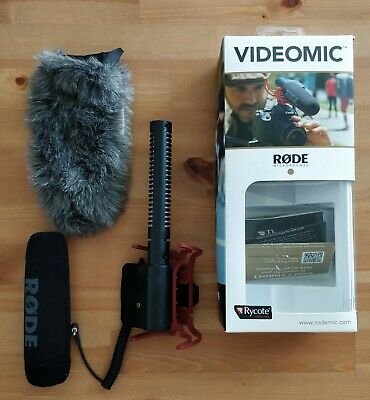 RODE Directional Microphone Shotgun Mic - Black - Used, batteries/charger incl.