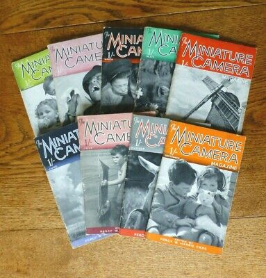 The Miniature Camera Magazine. Nine Issues Jan. to Sept.1940