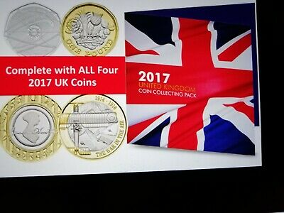 2017 Commerative Coin Set incl £2 Jane Austin, Isaac Newton 50p