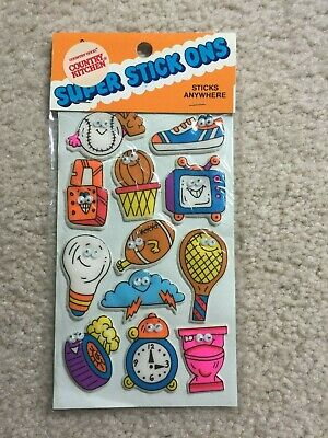 RARE VINTAGE Russ Puffy Stickers - GOOGLE EYES - SPORTS ++ SEALED PACK