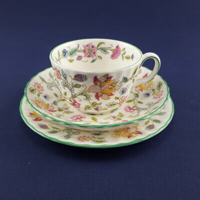 MINTON Haddon Hall Trio Tea Cup Saucer Plate 1st Quality Very Good Condition