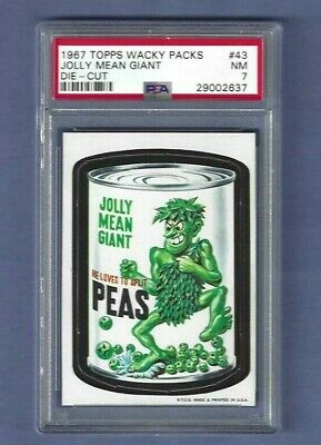 Wacky Packages 1967 Die Cut # 43 Jolly Mean Giant Psa 7 Nm Tough!