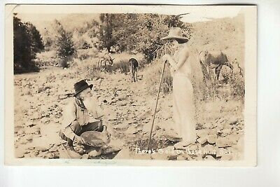 Real Photo Postcard There's Gold in These Hills  pmkd Winnemucca NV