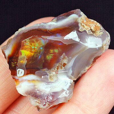 71.95Ct 100% Natural Mexican Multi-Colored Fire Agate Facet Rough YFM1809