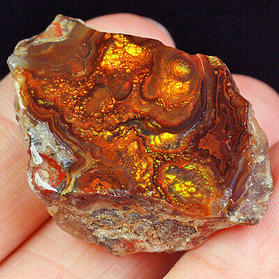 56.5Ct 100% Natural Mexican Multi-Colored Fire Agate Facet Rough YFM1808
