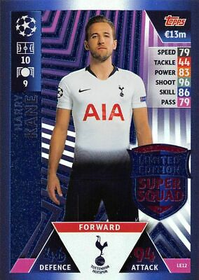 Topps Match Attax Champions League 2018/19 Harry Kane Limited Edition Card